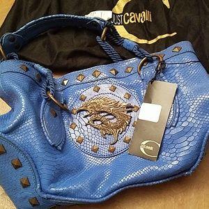 Just Cavalli Blue Snake Skin purse